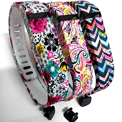 Replacement Bands For Fitbit Flex Only, Dunfire 2015 Newest Water Transfer Printing Bands Set With Metal Clasps for Fitbit Flex Activity Tracker/ Wireless Activity Wristbands/ Sleep Wristband/ Sport Bracelet/ Sport Armband