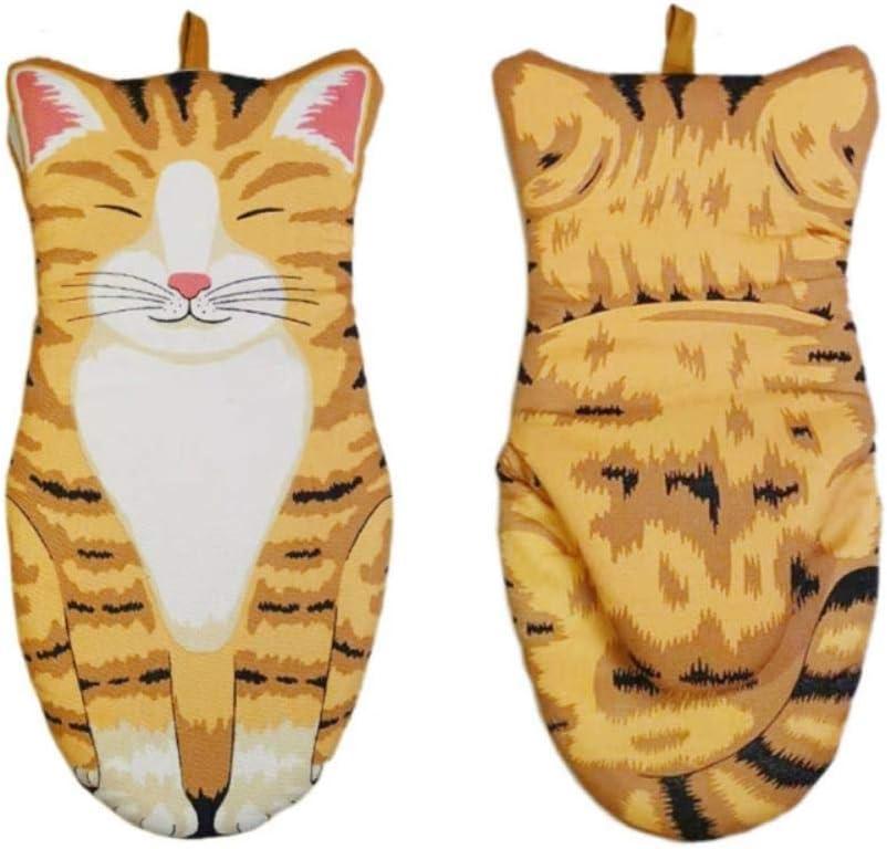 PJC Manique de cuisine en coton r/ésistant /à la chaleur Motif pattes de chat 3D