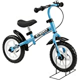 Enkeeo - Draisienne Vélo Enfant, Vélo Sans Pedale Enfant avec la cloche et le frein à main pour les enfants de 2-6 ans, cadre en acier au carbone, guidon réglable et Seat, capacité de 50kg