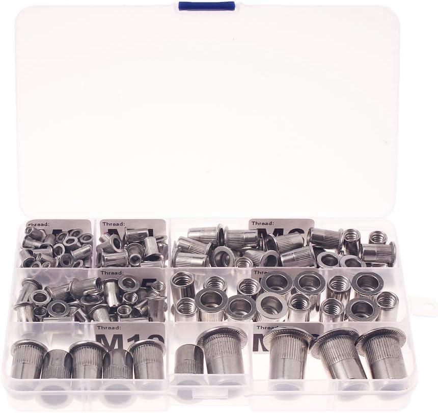 Qty 50 M3 Nutserts Zinc Plated Thin Sheet Countersunk Rivet Nut Nutsert Rivnut