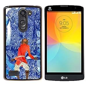 Qstar Arte & diseño plástico duro Fundas Cover Cubre Hard Case Cover para LG L Prime D337 / L Bello D337 (Azul abstracto rojo)