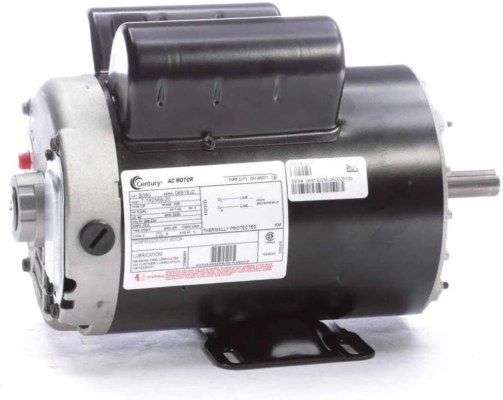 Amazon.com: 5 HP SPL 3450rpm P56 Frame 230 Volts Replacement Air Compressor  Motor - Century Motor # B3: Everything ElseAmazon.com