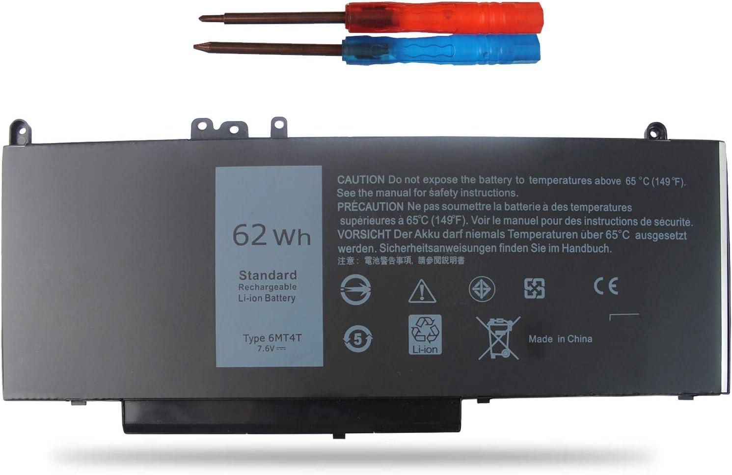 Vinpera 6MT4T (7.6V 62Wh) Battery Compatible with Dell Latitude E5470 E5570,fit 7V69Y TXF9M 07V69Y 79VRK Battery