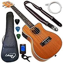 Lohanu Ukulele Cutaway Electric Concert Size With 3 Band EQ With All Accessories Included!