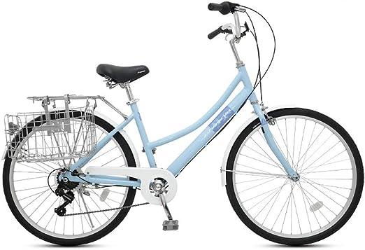 TTFGG Comodidad Bicicleta Bici con Cesta,Hombres Y Bicicletas ...