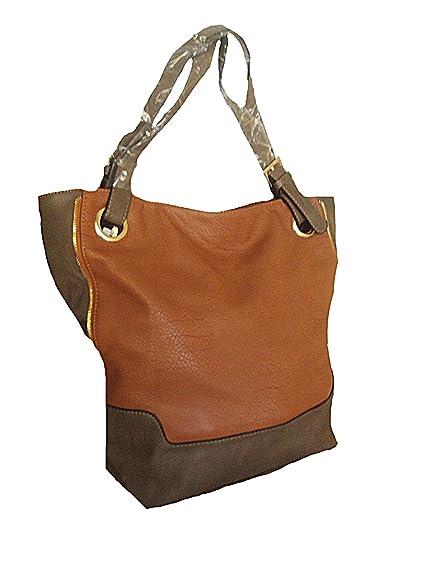 e90e4bed81 Sac à main femme Fourrre tout - cuir synthétique - Camel taupe: Amazon.fr:  Chaussures et Sacs