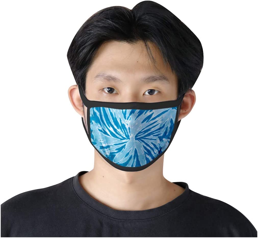 JIEXINXIN Unisex Outdoor Spots Wild Cat Tie-Dye Printed Universal Washable Reusable Anti Dust Cloth 5 Pieces