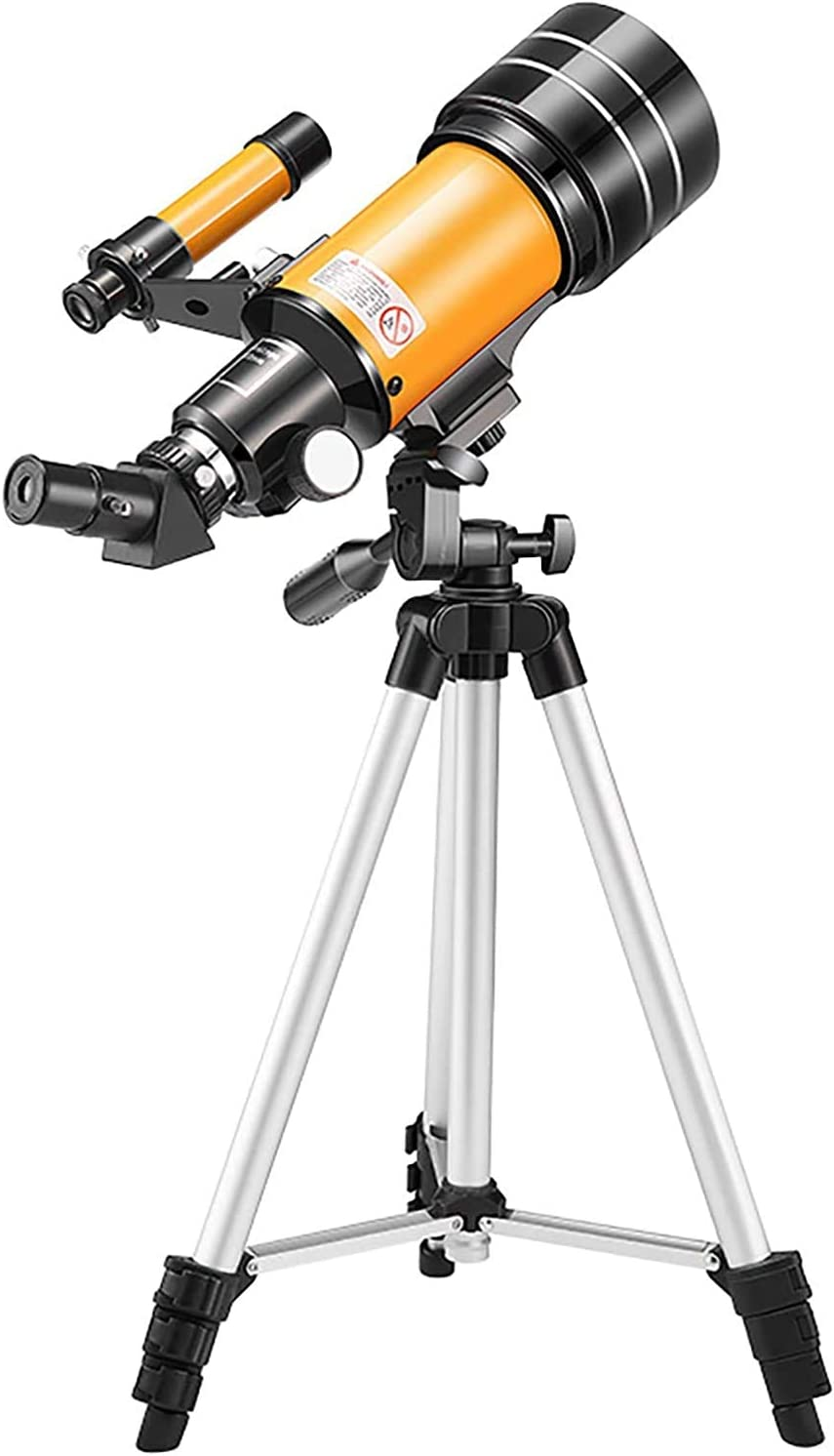 Telescopes for Adults Astronomy Professional, 70mm Aperture Telescope with Tripod, Astronomical Refracting Telescope Gifts for Astronomy Beginners, Telescope with 2 Magnification Eyepieces
