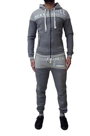 Herren Designer Tokyo All Stars Trainingsanzug Fleece Skinny Slim  Jogginghose Hose   Reißverschluss Jacke Mit Kapuze 4b5dd6f7c4
