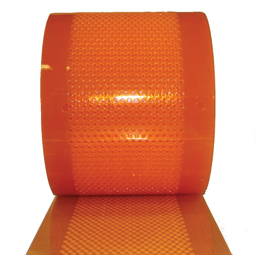 Aleco 175106 Clear-Flex II PVC Standard AirStream Strip Door Bulk Roll, 300' Length x 8'' Width x 0.08'' Thick, Amber
