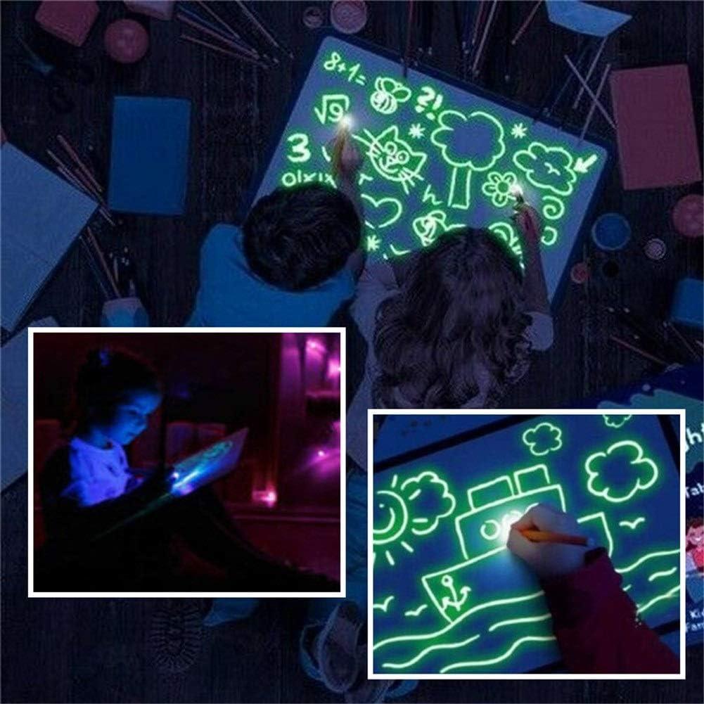 Cchua Pintura Pizarra Luminosa Pizarras Mágicas, Draw with Light Fun Mágicas Dibuje Estera Tablero de Escritura Fluorescente Niños Educativo Juguetes Tablets de Escritura LCD: Amazon.es: Deportes y aire libre