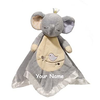 Amazon personalized elephant baby snuggle blanket gift 13 personalized elephant baby snuggle blanket gift 13 inches negle Choice Image