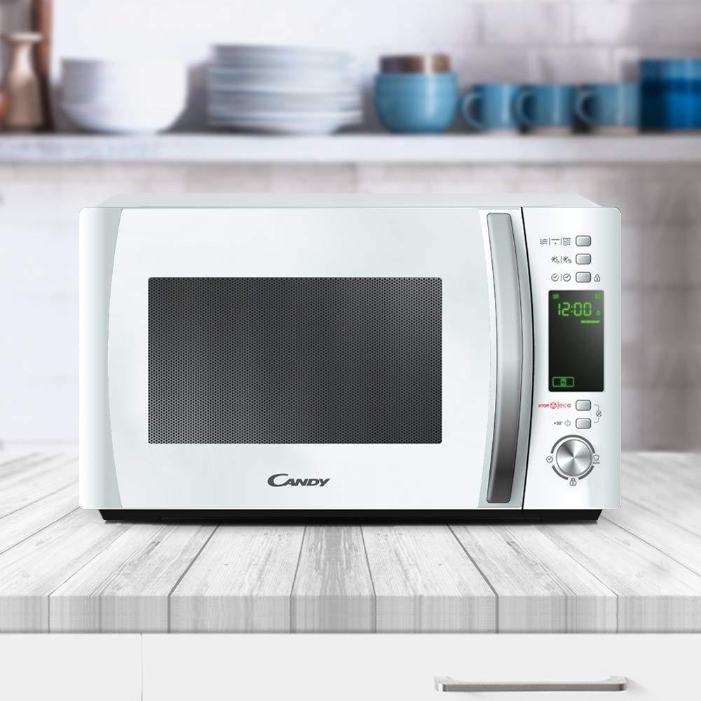 Candy CMXG 20DW, Microondas con Grill y Cook In App, 40 Programas Automáticos, 700 W, 20 L, Blanco