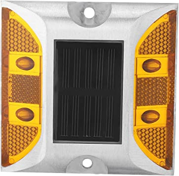 Emergency Reflector Flashing Security Accessories 2-Sided Reflector Road Pavement Marker Road Reflector Aluminum Reflector with LED