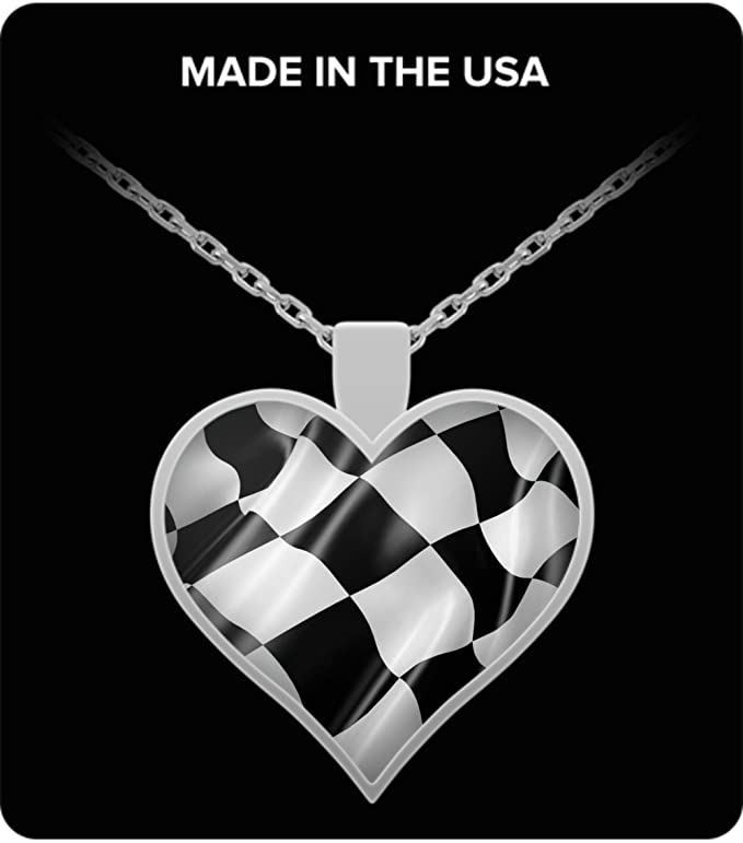 BULK 20 Checkered Flags Charms Antique Silver Tone Race Car Charm SC4205