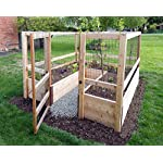 """Deer-Proof Just Add Lumber Vegetable Garden Kit - 8'x8' 8 DOES NOT INCLUDE LUMBER. Kit includes everything but the lumber: 8 Raised bed brackets, black nylon netting for fencing/trellis, black vinyl-coated steel wire for gate, ceramic-coated rust resistant screws, plus all other required hardware and detailed instructions Buy your own rough lumber locally - Build the ultimate vegetable garden with this kit. Required rough construction lumber : (10) 2""""x10""""x8'; (1) 2""""x10""""x6'; (6) 2""""x4""""x12'; (2) 2""""x4""""x8'; (3) 2""""x2""""x12'; (1) 2""""x2""""x8'; (4)1-5/8""""x1-5/8""""x12' (actual size). Note: the lumber boards will need to be further cut into the sizes described in the assembly instructions Gated garden keeps out deer, rabbits and dogs"""