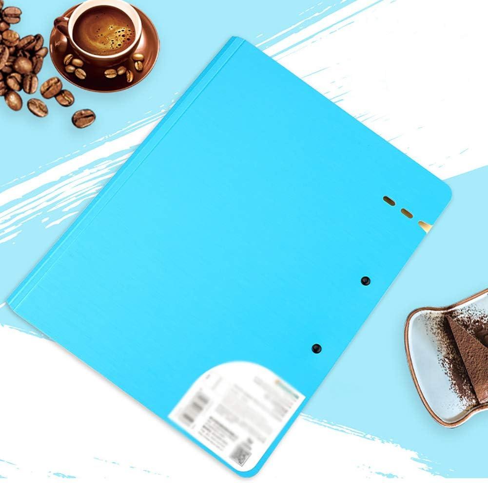 3 cartellina portablocco pieghevole in formato A3 colore: nero cartone per riunioni ufficio Ni documenti poster