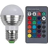 Rrimin New E27/E14 LED RGB Bulb Lamp AC110V 220V 5W LED RGB Spot Light Remote Light (E27)