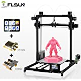 FLSUN 3D Printer Plus Prusa i3 Diy Kit Dual Nozzle Touch Screen Auto leveling Large 3D Printing Size Heated Bed Full Gifts