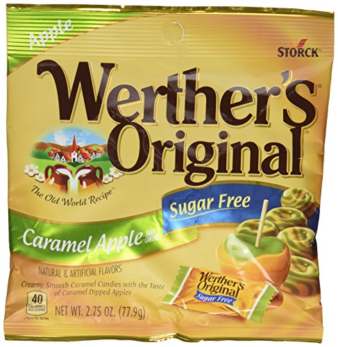 Smooth Caramel Apple - Storck Werthers Sugar Free Caramel Apple Hard Candies, 2.75 oz