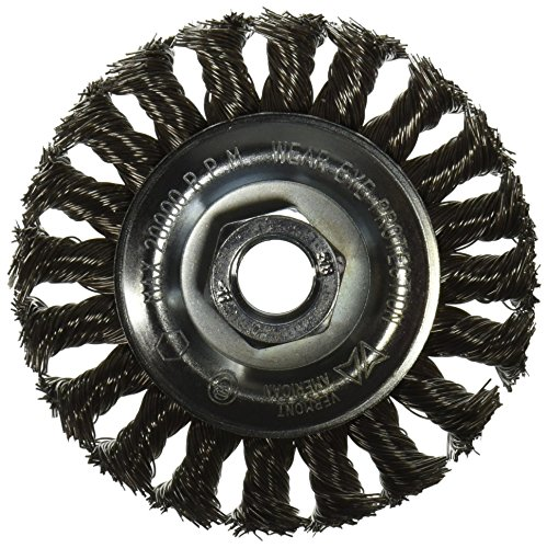 Vermont American 16855 4-Inch Stainless Steel Knotted Wire Wheel Brush 5/8-Inch Arbor