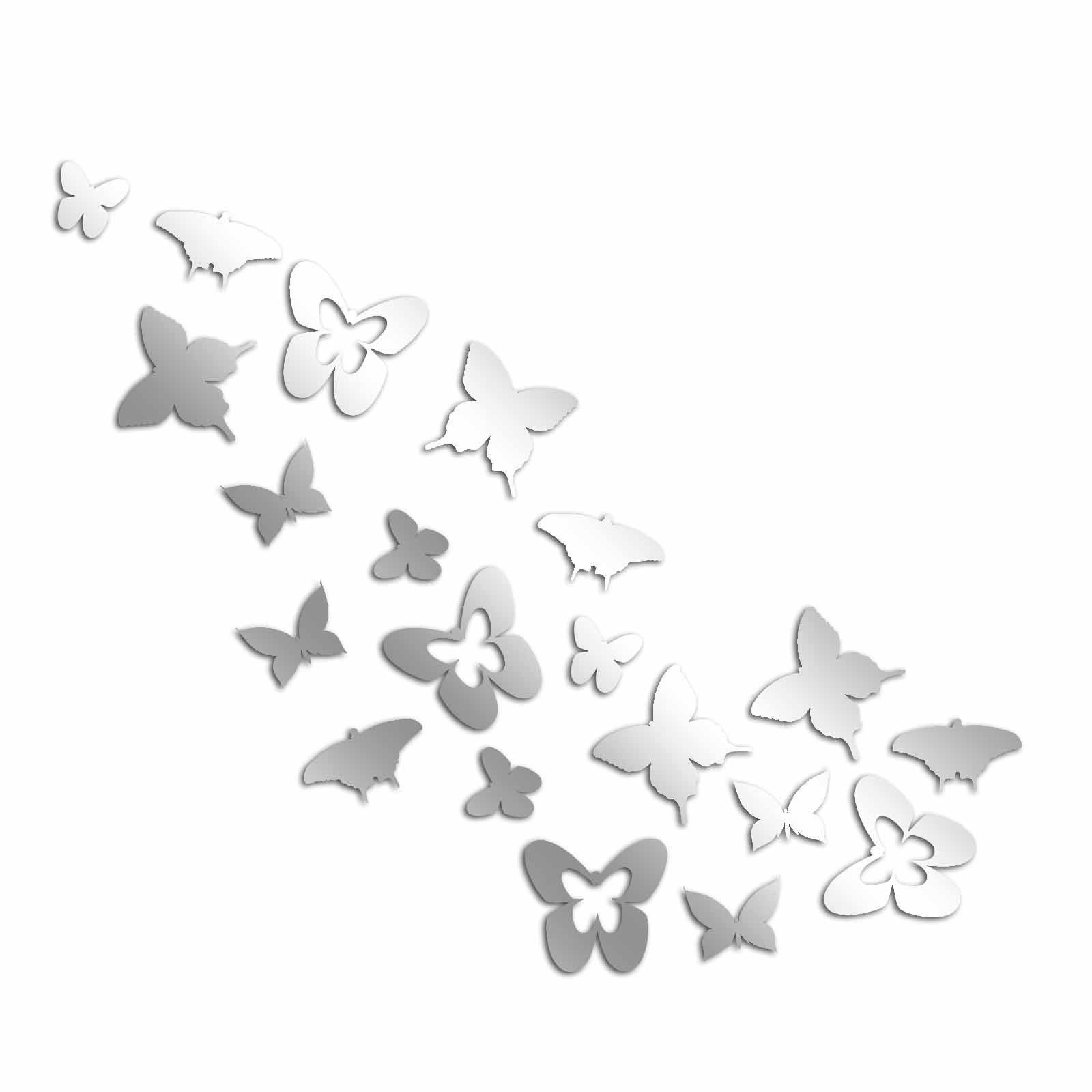 Decorative Removable Wall Sticker Mirror PLEXIGLASS (39.4'' x 39.4'') Number of Pieces 23 / Design Geometric Modern Pattern Butterfly Animal Cute / Background Decoration Perfect Design For Home, Office,
