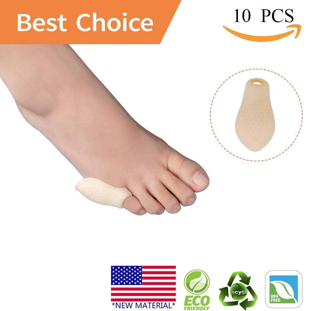 Pinky Toe Protector Bunion Corrector *New Material* Gel Little Toe Separator bunionette Cushion Sleeve Splint for Overlapping Toe, Pinky Hammer Toes.