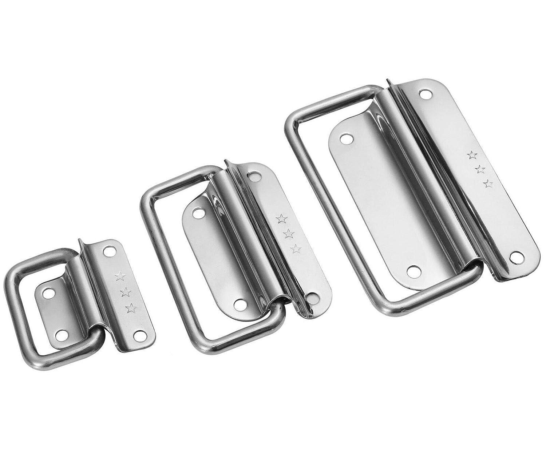Klappgriffe Edelstahl in 3 Gr/ö/ßen zum ausw/ählen 50mm,78mm /& 102mm 2x 102mm