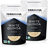 Terrasoul Superfoods Organic White Quinoa, 4 Lbs - Whole Grain | Pre-washed | Gluten-free | Plant Protein | Fiber
