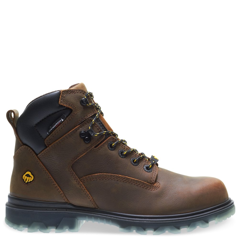 Wolverine Men's I-90 Waterproof Composite-Toe 6'' Construction Boot, Sudan Brown, 9 M US