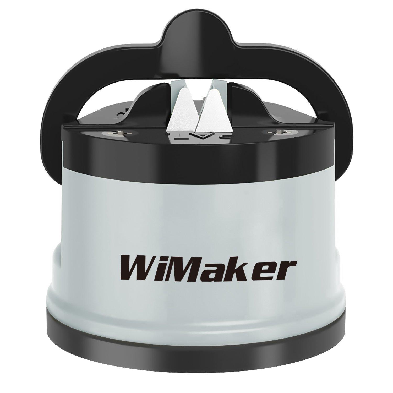 Wimaker Home Essential Sharpener, Mini Knife Sharpening Stone Knife Sharpener Kitchen Knife Tool (Grey)