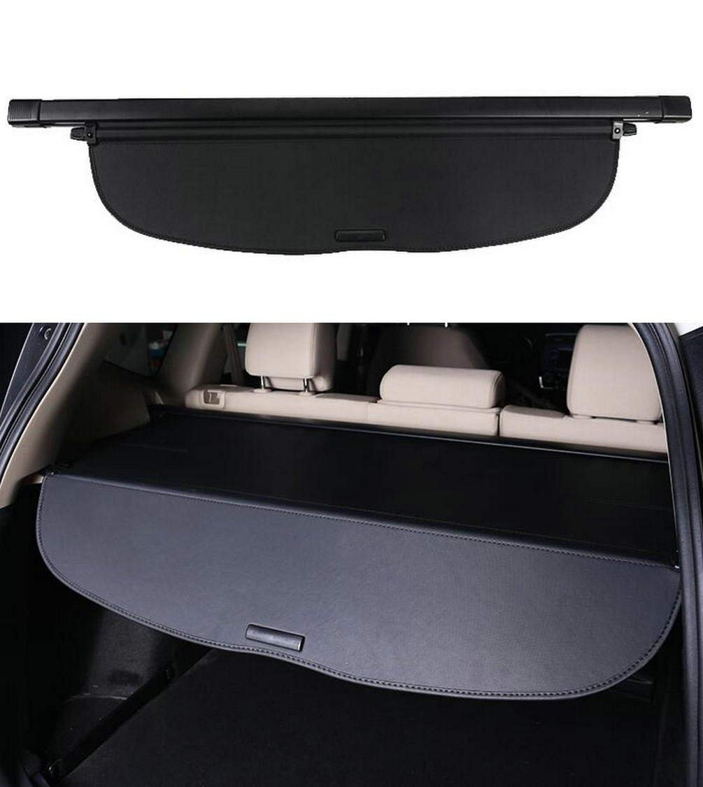 Icegirl Black Cargo Cover Interior Accessories Rear Trunk Organizers Security Shield Retractable Compatible for Volkswagen VW Tiguan 2018 2019 (VW Tiguan)