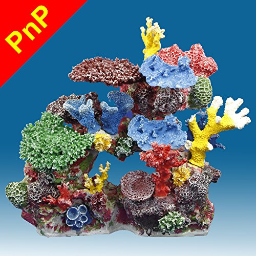 Instant Reef DM032PNP Artificial Coral Reef Aquarium Decor for Saltwater Fish, Marine Fish Tanks and Freshwater Fish Aquariums by Instant Reef