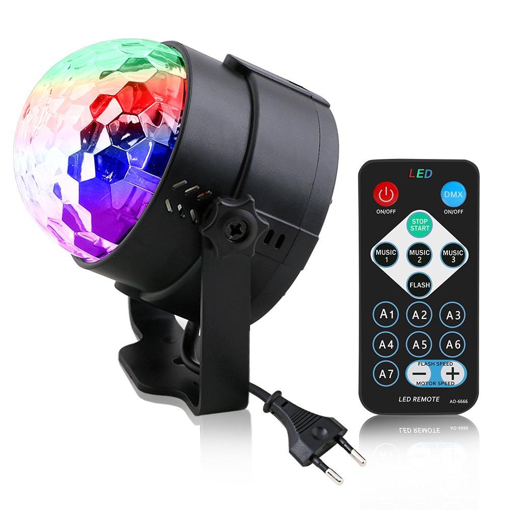 Vicloon Disco Party LED Licht Beleuchtung mit Fernbedienung Lichteffekte Discokugel Bü hnenbeleuchtung, Partylicht DJ Lampe Ball