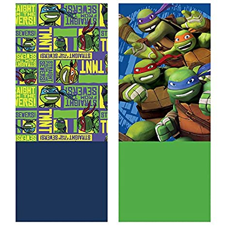 Amazon.com : Teenage Mutant Ninja Turtles TMNT Coral Fleece ...