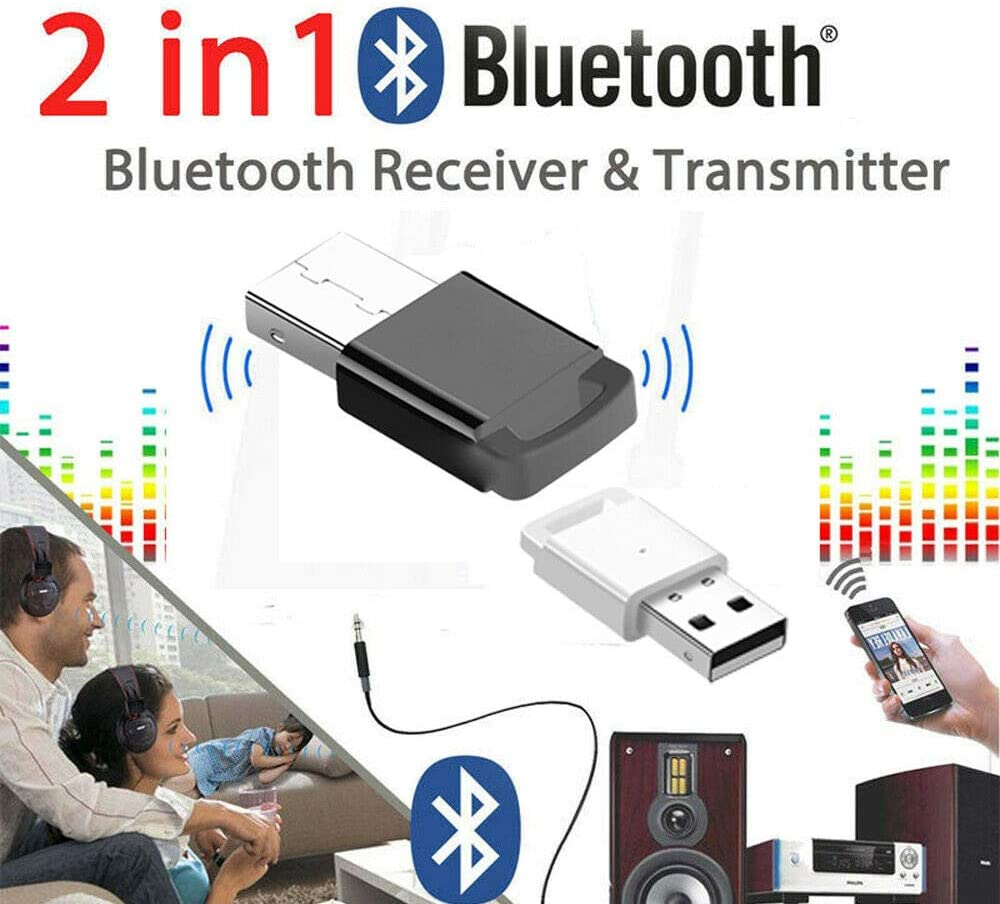 USB Bluetooth 4.0 Adapter for PC Laptop Computer Desktop Stereo Music Headphone Keyboard Mouse Devices with 2.4Ghz Range Support Windows 10//8//8.1//7//Vista//XP Black
