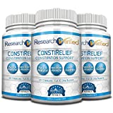 Research Verified ConstiRelief - The best Supplement for Constipation Relief on the market - with L. Acidophilus for long term health and prevention. 100% back guarantee! (Pack of 3)