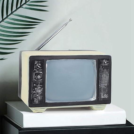 Ornamento antiguo de la estatua de la televisión de la resina TV del vintage antiguo para los apoyos de la fotografía de la decoración del escritorio casero: Amazon.es: Hogar