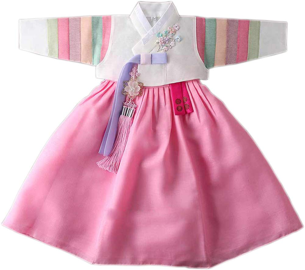 Korean Traditional Hanbok Babies Girls Costumes Dress Birthday Party DOLBOK 1-15 Ages yjg105 (2 Ages)