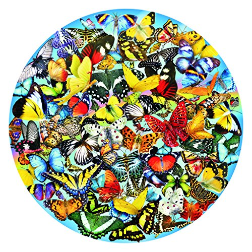 Butterflies in the Round 1000 pc Jigsaw Puzzle by SunsOut