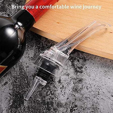 nobrand 2 Piezas de Decantador Aireador de Vino para Vertedor de Vino Tinto Decantador de Vino y Aireador Profesional para Casa Fiesta Bar