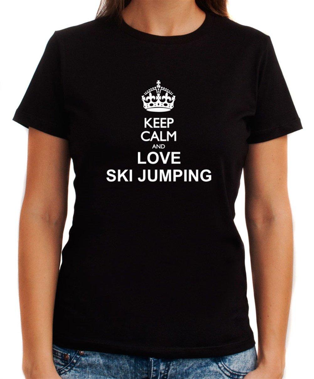Keep calm and love Ski Jumping Dame T-Shirt