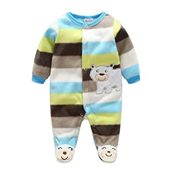 5f8a900d0 Newborn Baby Footed Overall Romper Toddler Girls Boys Animal ...