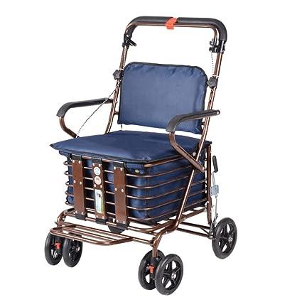 Carrello A Quattro Ruote Per Anziani Walker Con Sedile A Rotelle