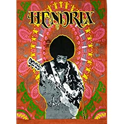 Indian Craft Castle Hendrix Guitor Poster Bohemian Psychedelic Hippie Mandala Tapestry Wall Hanging, Ethnic Decorative Indian Dorm Decor, 30x40 Inches