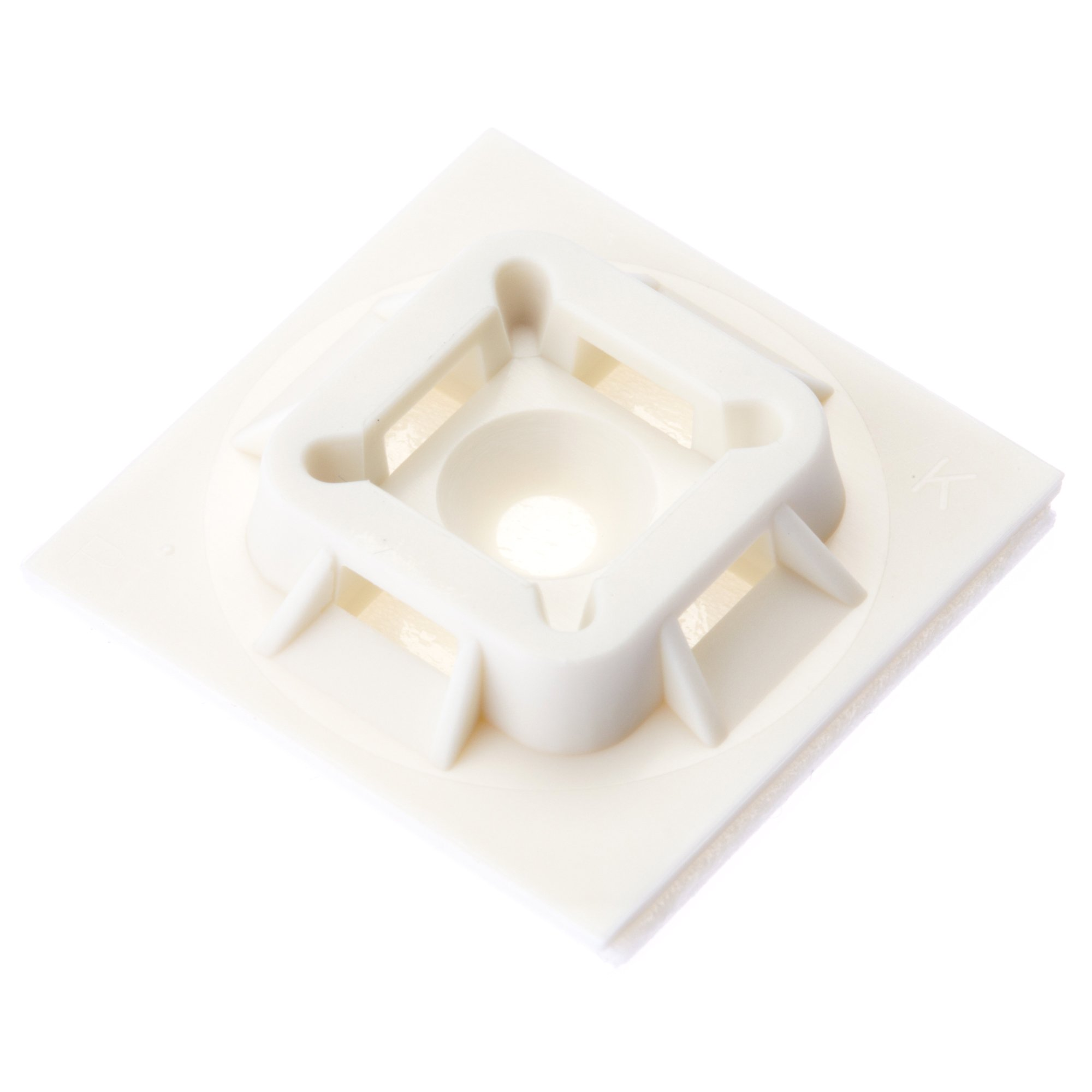 Panduit ABM100-A-D Cable Tie Mount, Adhesive Backed, 4-Way, Nylon 6.6, White (500-Pack)