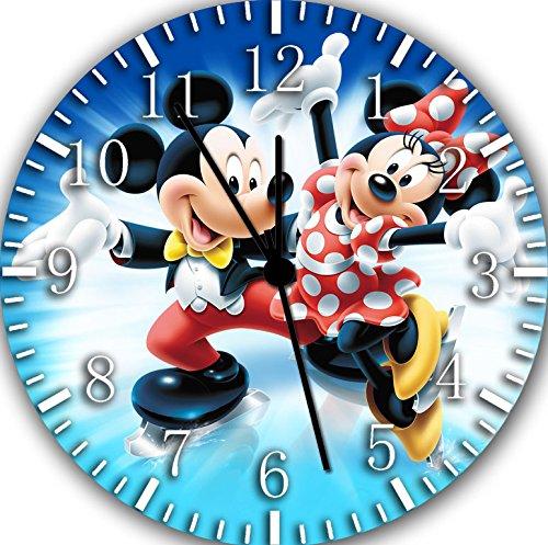 Disney Mickey Minnie Frameless Borderless Wall Clock F32 Nice For Gift or Room Wall Decor