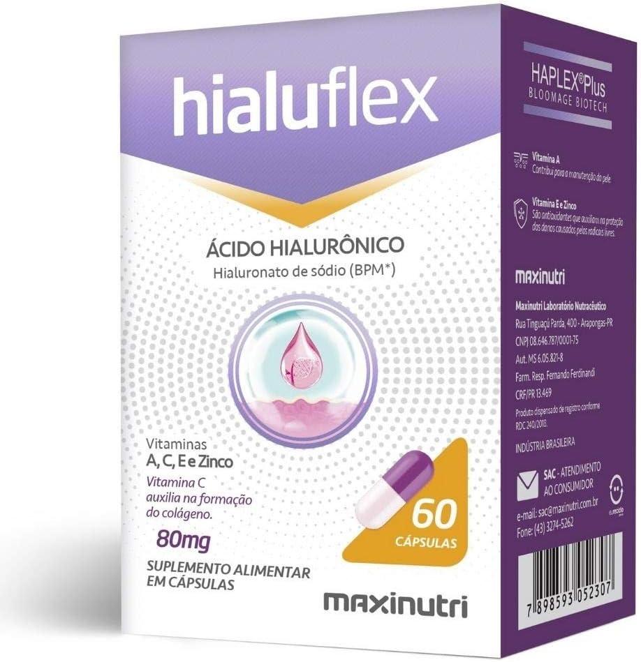 Hialuflex - Ác. Hialurônico + Vit. A, C, E e Zinco - 60 Cáps, Maxinutri por Maxinutri