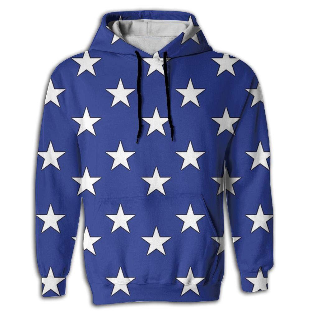 CHAN03 Unisex Realistic 3D Print Hoodie Hooded Sweatshirts US Flag 50stars