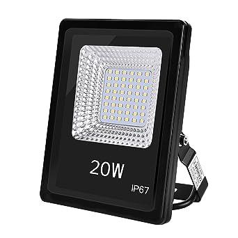 Foco LED IP67, Foco Exteriores/Interiores Foco proyector LED 20W ...